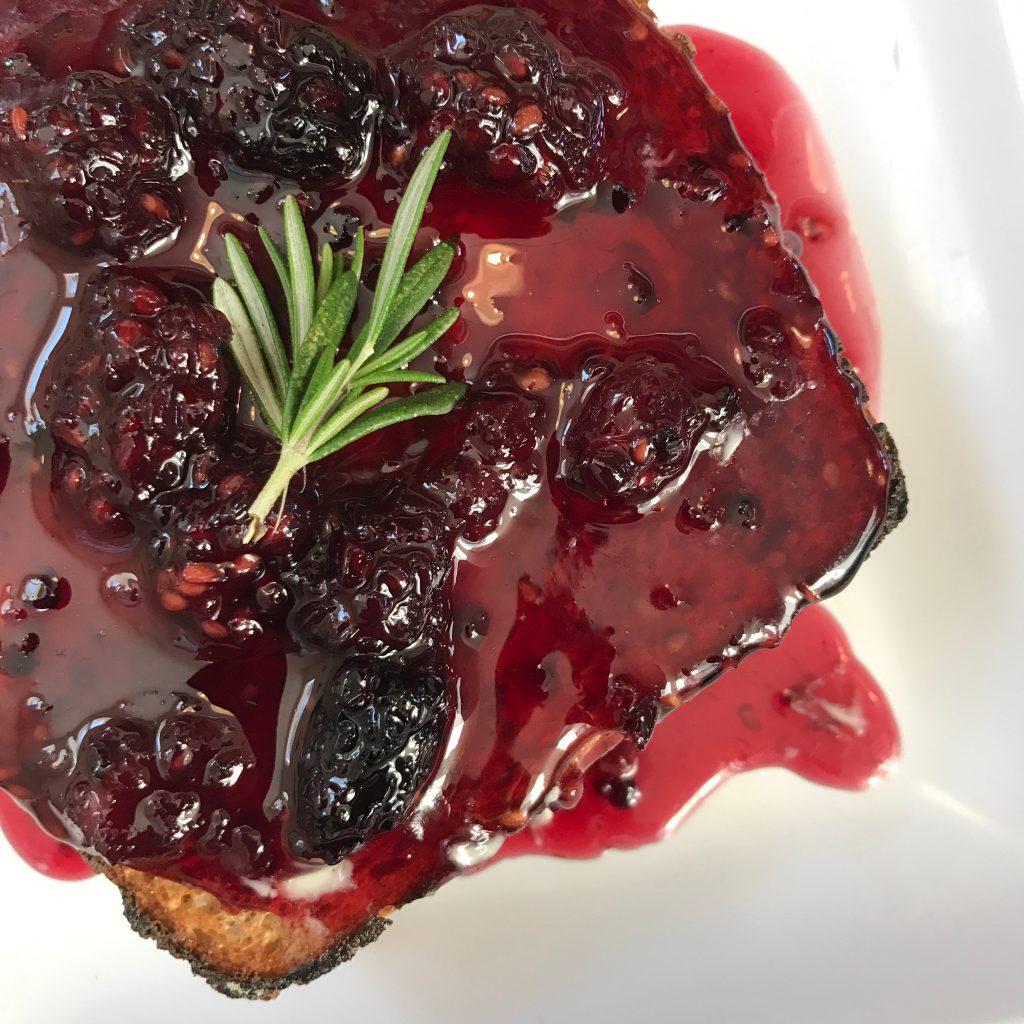 rosemary vanilla jam toast