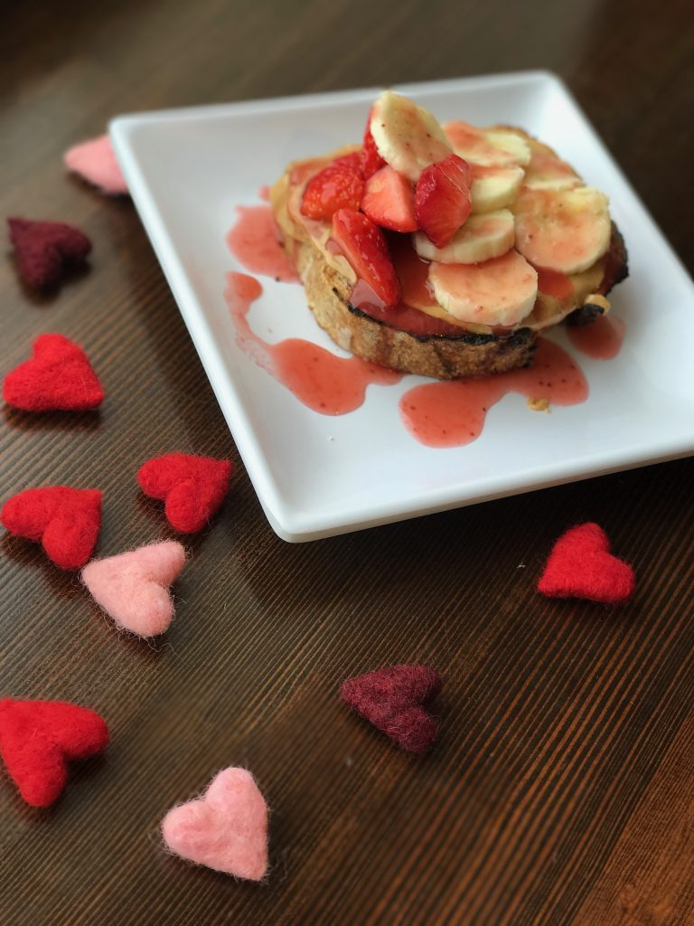strawberry banana toast