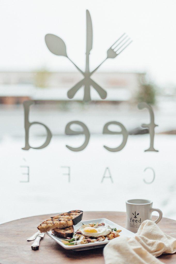 feed cafe window
